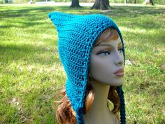 PATTERN:  Pixie Hood, woodland fairy elf hat,  Adult/ Teen size, PDF easy crochet, Can Be Made To Order. $5.00, via Etsy.