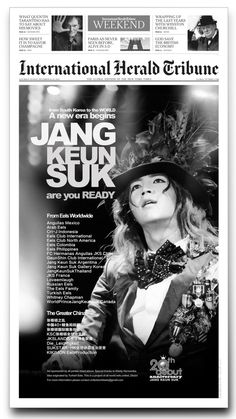 Jang Keun Suk 20 years anniversary International Herald Tribune black & white Advertisement