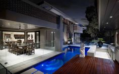 We have a range of new home designs with luxury inclusions and ultimate flexibility for families! Discover our new home designs in Melbourne at Metricon. Outdoor Rooms, Outdoor Living, Outdoor Areas, Outdoor Tiles, Indoor Outdoor, Facade Design, House Design, Porches, Small Backyard Pools