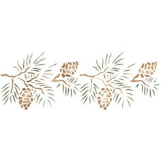 line drawing pine cone borders - Google Search