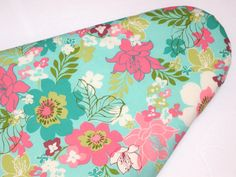 Ironing Board cover in Pink and Teal Floral