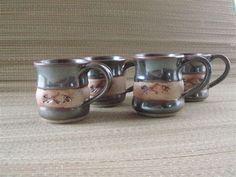 Fish Mugs featuring a handmade impressed by CopelandStoneware, $20.00