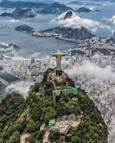 Christ the Redeemer, Rio de Janeiro, Brazil    Photo by @ai.visuals Tag #naturegeography and follow us to be featured!