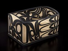 10. WOLVES AND EAGLES BULGING BENTWOOD BOX