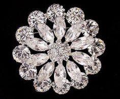 JP 201 Large crystal rhinestone flower brooch