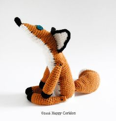 The Little Prince Fox amigurumi crochet pattern by HappyCoridon