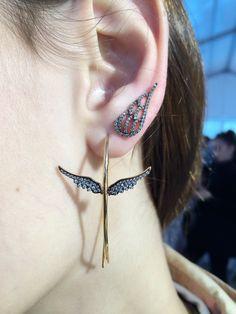 Wings Hoops - angel wings climbing earings by PS ONE