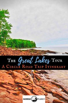 The Great Lakes tour is a circle road trip route through the United States and Canada to scenic destinations along Lakes Superior, Michigan, Huron, Ontario, and Erie. Road Trip Usa, Canada Travel, Travel Usa, Beach Travel, Grands Lacs, Michigan Travel, Lake Michigan Vacation, Road Trip Hacks, All Family