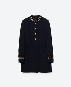 MANDARIN COLLAR FROCK COAT from Zara
