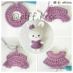 Mesmerizing Crochet an Amigurumi Rabbit Ideas. Lovely Crochet an Amigurumi Rabbit Ideas. Crochet Doll Pattern, Crochet Dolls, Crochet Patterns, Crochet Gifts, Free Crochet, Knit Crochet, Crochet Buttons, Crochet Stitches, Crochet Rabbit