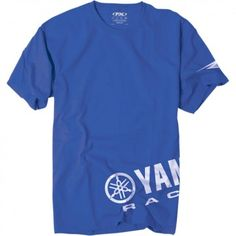 Factory Effex Official Yamaha Racing Wrap Crew Short Sleeve Mens T-Shirts