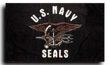 Navy Seals - 3' x 5' Polyester Flag by flagline. $1.70. Canvas Header with Two Brass Grommets. 3' x 5' Polyester. These military flags are created with exacting detail and screen-printed onto 100% polyester.