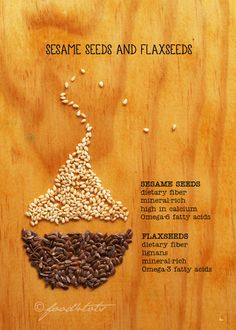 Sesame Seeds and Flaxseeds by Food For Tots