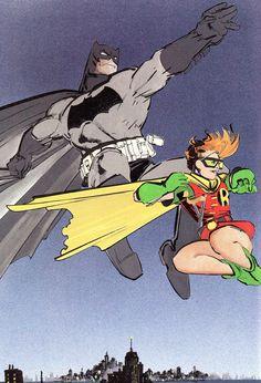 "Batman & Robin (Carrie Kelley) from The Dark Knight Returns #3 (1986) ""Hunt The Dark Knight"" •Frank Miller"
