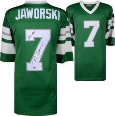 16b11348631 Ron Jaworski Eagles Signed Green M&N Replica Throwback Jersey & Polish  Rifle Ins Ron Jaworski,. Ron JaworskiNfl Philadelphia ...