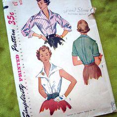 1950s Vintage Sewing Pattern  Rockabilly Big by SelvedgeShop, $14.00