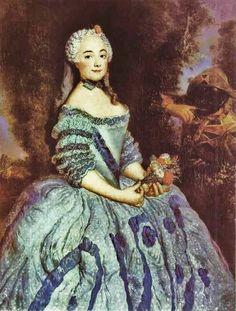 1750 Antoine Pesne (1683-1757) Portrait of the Actress Babette Cochois (c.1725-1780), later Marquise d'Argens