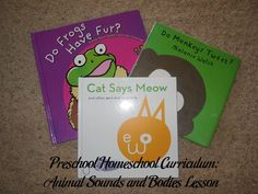 Preschool Homeschool Curriculum: Animal Sounds and Bodies Lesson Plan | Parenting Patch