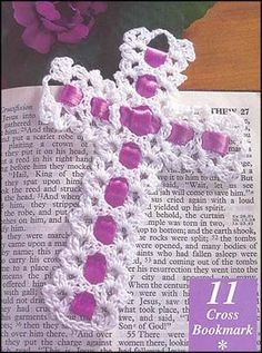 Cross Bookmark (from May 1999) ~ free pattern