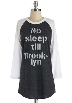 Give it Your All-nighter Tee in Charcoal. Whether studying for an exam or driving through the night to a fun destination, this soft graphic tee gives you the energy to keep on rollin! #grey #modcloth