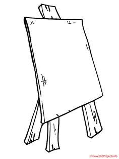 Fensterbild gratis Staffelei - Zubehoer zum Malen