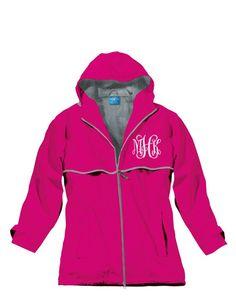 Monogrammed Rain Jacket - Bridesmaid Gifts - Monogrammed gift - Ladies, Womens, Teens Monogram Apparel