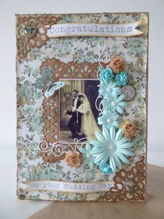 Vintage style wedding card - Scrapbook.com