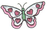 Pinnacle Embroidery Patterns Embroidery Design: Butterfly 1.34 inches H x 2.28 inches W
