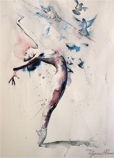 tatyanailieva:  Original Watercolor Painting - Wonderwall