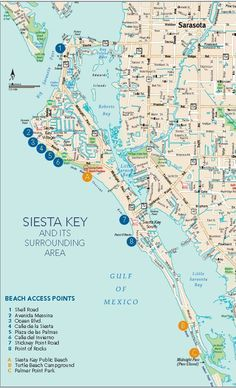 Stroll to Siesta Beach from Serene Condo + 2 bikes - Condominiums for Rent in Siesta Key, Florida, United States Siesta Key Map, Siesta Key Florida, Siesta Key Beach, Sarasota Florida, Florida Vacation, Florida Travel, Map Of Florida Beaches, Vacation Spots, Siesta Key Rentals