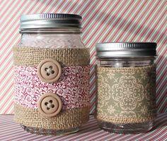 Burlap sleeves for jars