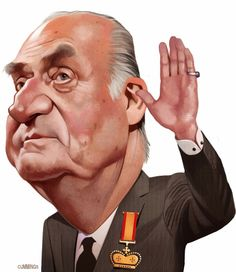 Caricatura de Juan Carlos I.