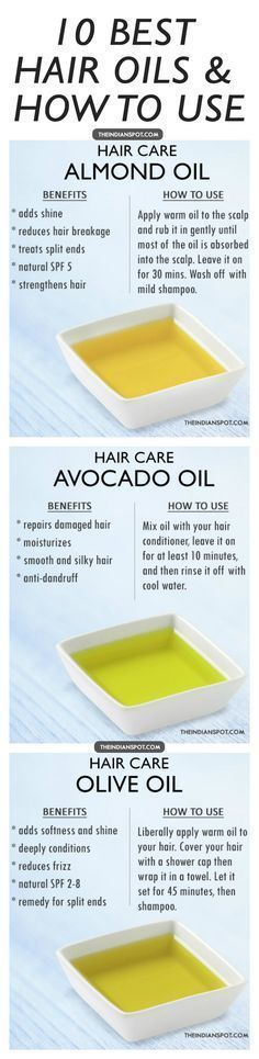 Benefits and How to Use - Top10 Hair Oils for healthy hair #RegrowHairTips