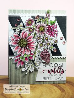 "Featuring ""Pure Prairie Spirit"" by Power Poppy. Card by Allison Cope."