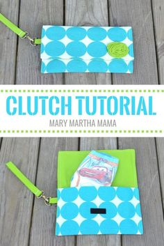 DIY Wristlet Clutch tutorial- Step by step tutorial for how to make a clutch #PottyTrainTogether #ad