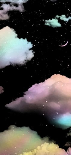 Clouds Wallpaper Iphone, Unique Iphone Wallpaper, Space Phone Wallpaper, Cool Backgrounds Wallpapers, Cute Black Wallpaper, Cute Galaxy Wallpaper, Night Sky Wallpaper, Phone Wallpaper Images, Cloud Wallpaper
