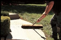 Photographs by Geoffrey Gross | thisoldhouse.com | from How to Renew Concrete Surfaces