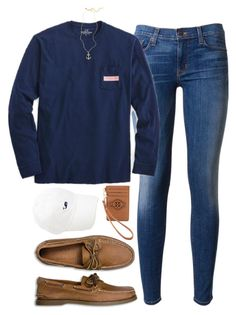 """""""go STH!!!"""" by tabooty ❤ liked on Polyvore featuring Hudson, Vineyard Vines, Sperry Top-Sider, Brooks Brothers and Tory Burch"""