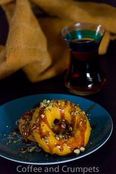 Baked Pumpkin Donuts With Chocolate Glaze And Chopped Pistachios ...