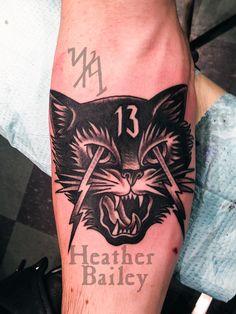 Traditional tattoo b&w