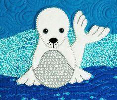 betz white: Polar Babies Quilt and Pillow----9 endangered species