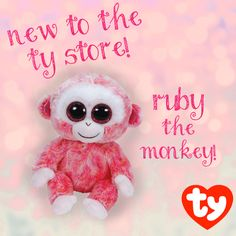 Ruby the Monkey is a new Beanie Boo addition to the Ty Store!