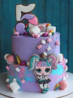 Ideas Doll Lol Birthday Party For 2019 Birthday Cakes Girls Kids, Doll Birthday Cake, Funny Birthday Cakes, Girl Birthday, Birthday Parties, Funny Cake, Girl Party Foods, Lol Doll Cake, Surprise Cake