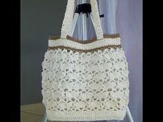 Bolsa em croche luxo - YouTube Love Crochet, Single Crochet, Crochet Flowers, Crochet Designs, Crochet Bag Tutorials, Easter Crochet, Crochet Handbags, Stitch Design, Crochet Stitches