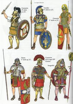 Roman soldiers, arms and armor