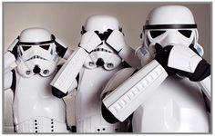 Star Wars: I can't hear, I can't see, I can't speak.