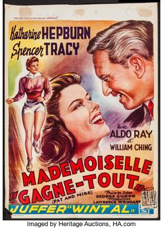 """Movie Posters:Comedy, Pat and Mike (MGM, 1954). Trimmed Belgian (14"""" X 1..."""