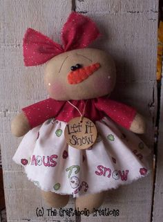 The Craftaholic Creations: a flurry of Snow dolls