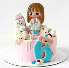 Baby Birthday Cakes, Birthday Parties, Cake Cookies, Fondant, Icing, Cake Recipes, Cake Decorating, Little Girls, Wedding Cakes