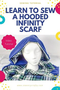 Follow both the pictorial and video sewing tutorial to create this terrific hooded infinity scarf from DIBY CLUB with the free sewing pattern that goes with it.  This is a beginner sewing project that anyone with basic sewing skills can make and well worth the hour of time it takes. Basic Sewing, Sewing Basics, Sewing Patterns Free, Free Sewing, Sewing Projects For Beginners, Sewing Tutorials, Learn To Sew, How To Make, Photo Tutorial